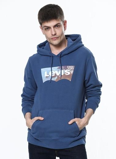 Levi's® Erkek Hoodie Sportswear Logo 19491-0130 İndigo